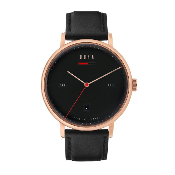 Aalto black / rose gold automatic power reserve watch - Monochrome