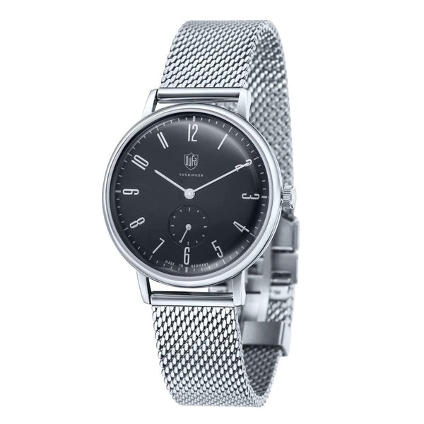 Gropius black / silver milanese watch - Monochrome