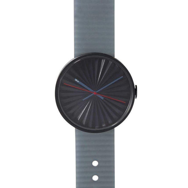 Plicate wristwatch with 3D dial - Monochrome