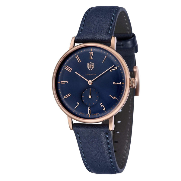 Gropius blue / rose gold watch - Monochrome
