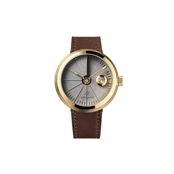 4D Concrete Signature brass / concrete automatic watch - Monochrome