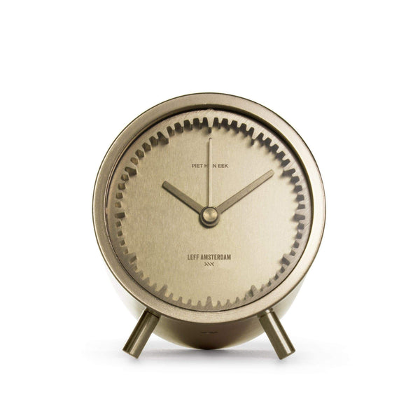 Tube brass desk clock - Monochrome