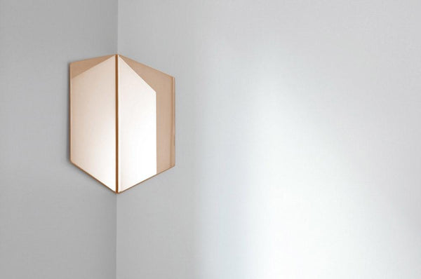 Hex corner mirror - Monochrome