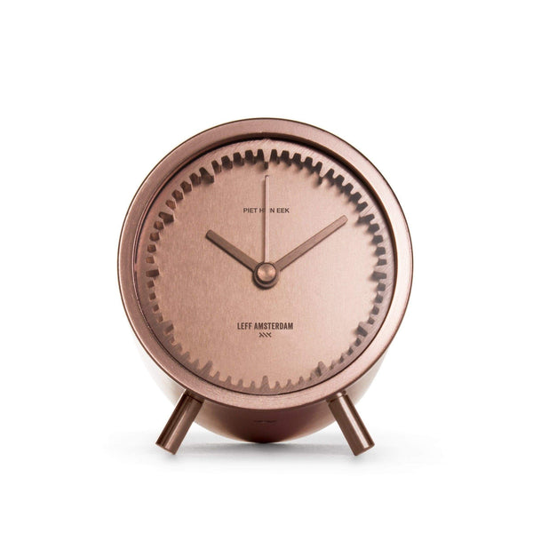 Tube copper desk clock - Monochrome
