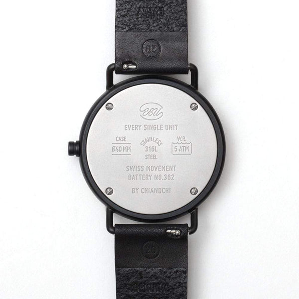 ESU watch with replaceable bezel black - Monochrome