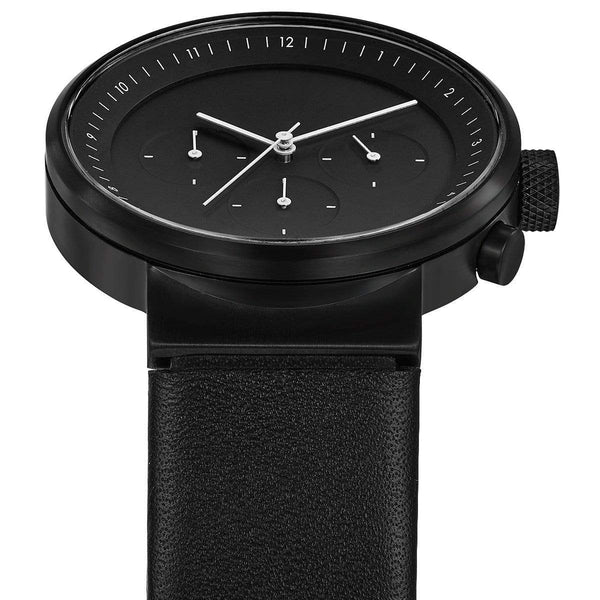 Kiura black chronograph watch - Monochrome