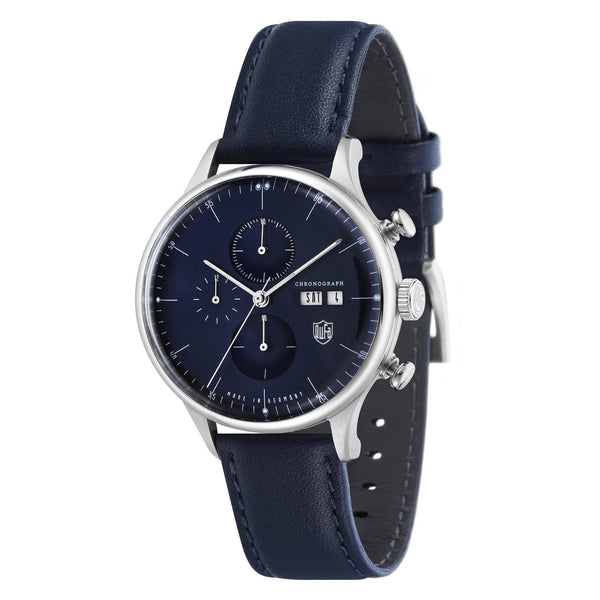 Van Der Rohe Barcelona navy/navy chronograph watch - Monochrome