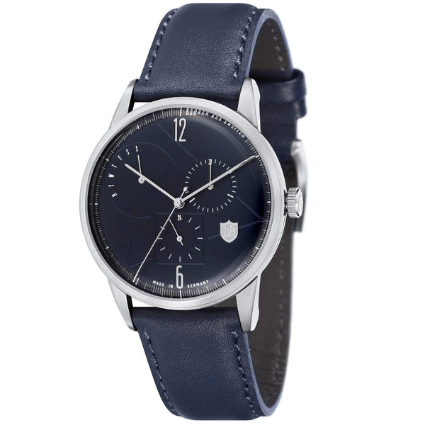 Weimar navy/navy calendar watch - Monochrome