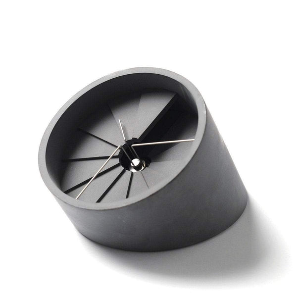 4th Dimension table clock - Monochrome