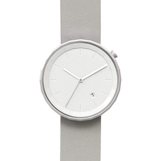 Polygon 01 white/gold watch - Monochrome