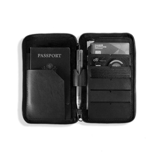 Stack passport wallet - Monochrome