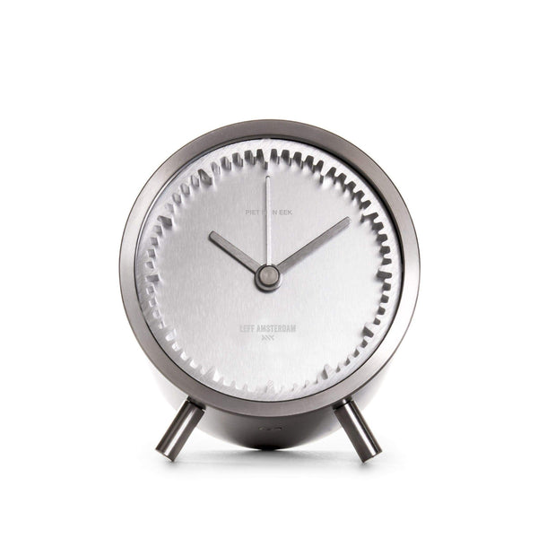 Tube steel desk clock - Monochrome