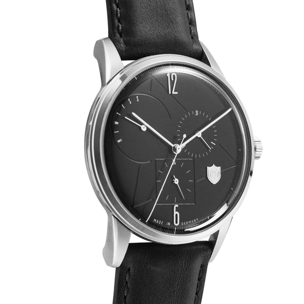 Weimar black calendar watch - Monochrome