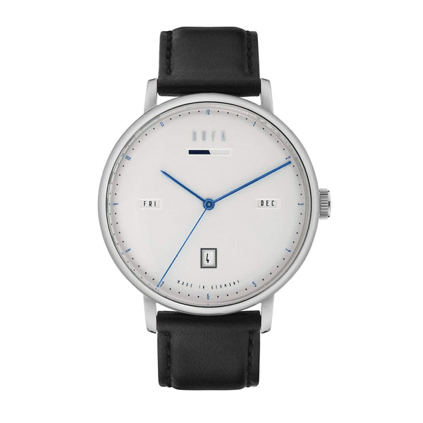 Aalto white / black automatic power reserve watch - Monochrome