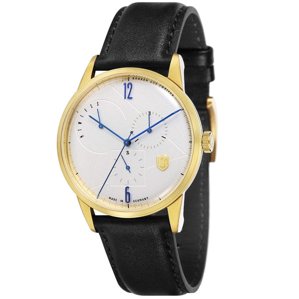 Weimar white/gold calendar watch - Monochrome