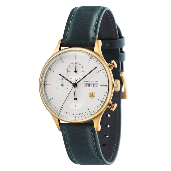 Van Der Rohe Barcelona white/green chronograph watch - Monochrome