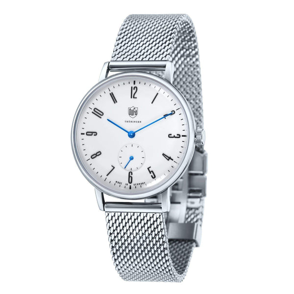Gropius white / silver milanese watch - Monochrome