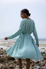 Seashell Pleated Dress