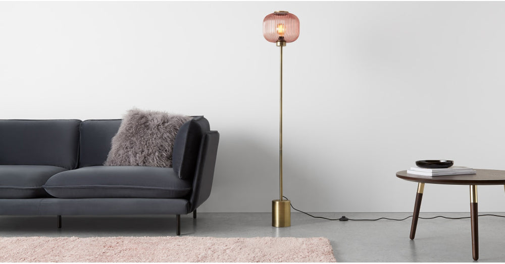 Briz Textured Glass Floor Lamp