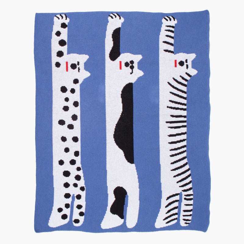 COOL CATS MINI BLANKET-Art by Sujin Kimm - Seoul, Korea