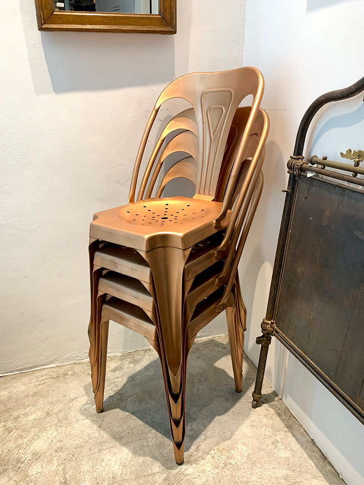 Industrial Bright Copper Chair