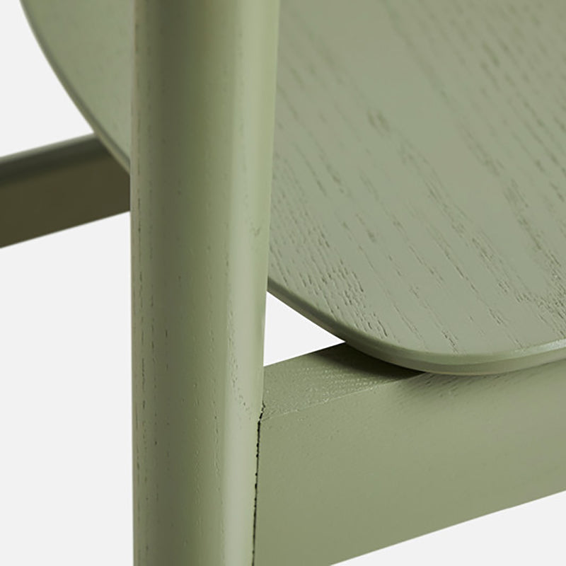 Pause dining chair 2.0 Olive green painted ash