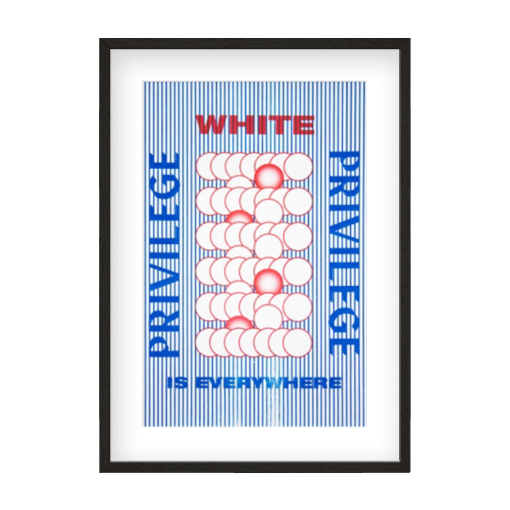 PM18 White Privilege Is Everywhere Posters