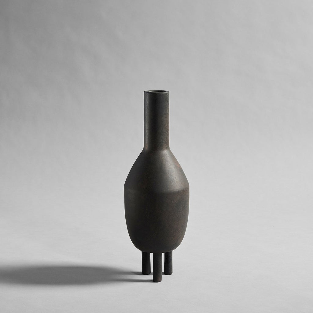 Duck Vase, Slim - Coffee