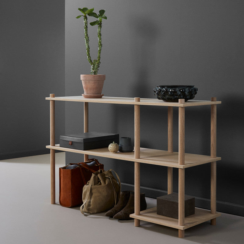Elevate shelving system 3 oak