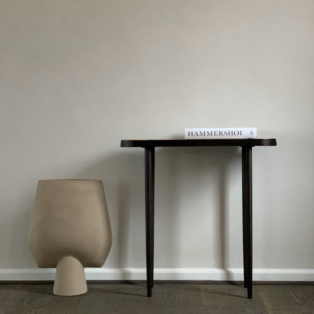 Hako Console Table - Burned Black