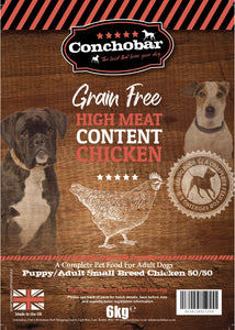 Conchobar Small Breed Puppy / Adult Chicken 50/50 6kg - Conchobar, Small Breed - Hypoallergic grain free dog food