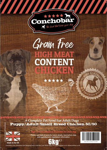 Conchobar Small Breed Puppy / Adult Chicken 50/50 6kg - Conchobar