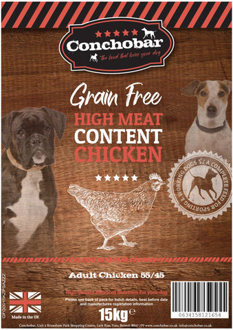 Conchobar Adult Chicken 55/45 15kg - Conchobar, Adult Dog - Hypoallergic grain free dog food