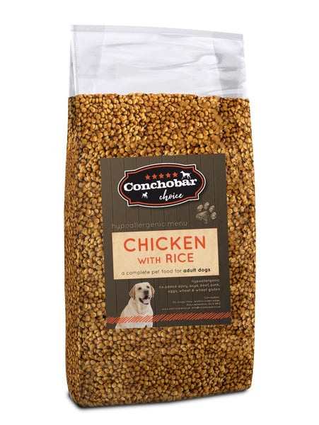 Choice Adult Chicken & Rice 30kg (2x15kg) - Conchobar, Choice Adult - Hypoallergic grain free dog food