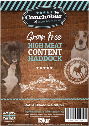 Conchobar Adult Haddock 50/50 15kg - Conchobar, Adult Dog - Hypoallergic grain free dog food