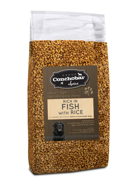 Choice Senior Light Fish & Rice 30kg (2x15kg) - Conchobar, Choice Senior - Hypoallergic grain free dog food