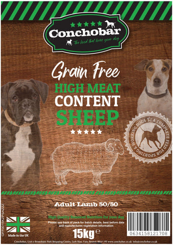 Conchobar Adult Lamb 50/50 15kg - Conchobar, Adult Dog - Hypoallergic grain free dog food