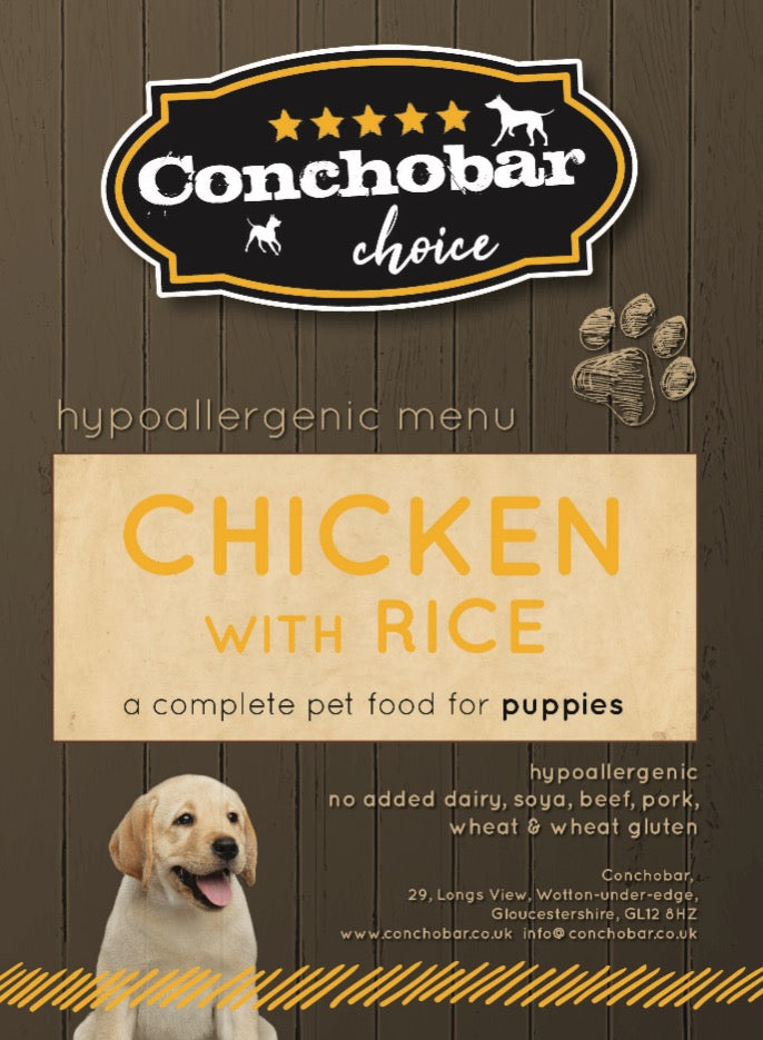 Choice Puppy Chicken & Rice 15kg - Conchobar, Choice Puppy - Hypoallergic grain free dog food