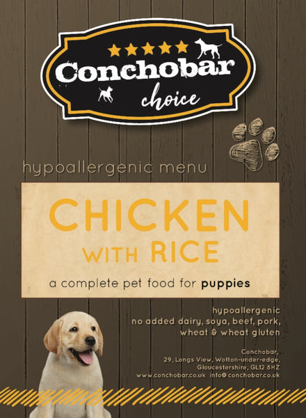 Choice Puppy Chicken & Rice 30kg - Conchobar, Choice Puppy - Hypoallergic grain free dog food