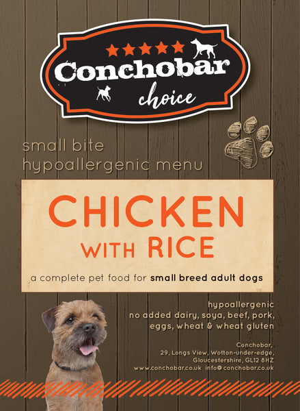 Choice Adult Small / Toy Chicken & Rice 15kg - Conchobar, Choice Adult - Hypoallergic grain free dog food