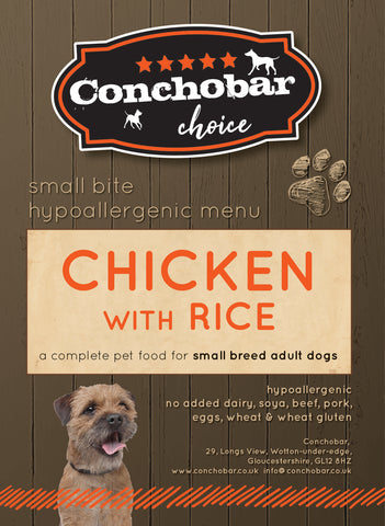 Choice Adult Small / Toy Chicken & Rice 6kg - Conchobar, Choice Adult - Hypoallergic grain free dog food