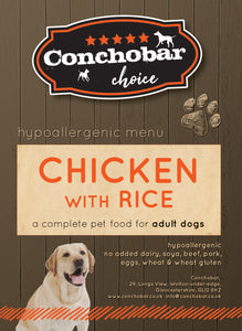 Choice Adult Chicken & Rice 15kg - Conchobar, Choice Adult - Hypoallergic grain free dog food