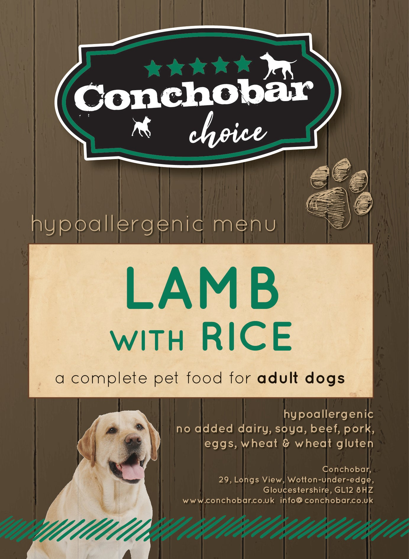 Choice Adult Lamb & Rice 30kg (2x15kg) - Conchobar