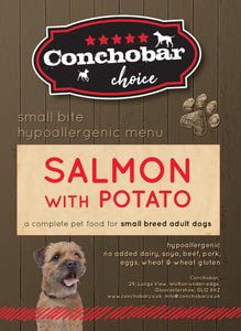 Choice Adult Small / Toy Salmon with Potato 15kg - Conchobar, Choice Adult - Hypoallergic grain free dog food