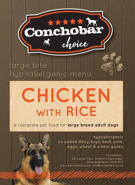 Choice Adult Large Chicken & Rice 15kg - Conchobar, Choice Adult - Hypoallergic grain free dog food