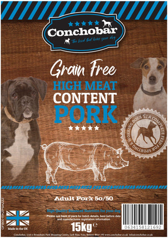 Conchobar Adult Pork 50/50 30kg (2x15kg) - Conchobar, Adult Dog - Hypoallergic grain free dog food