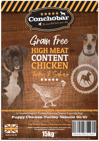 Conchobar Puppy Chicken with Turkey & Salmon 30kg (2x15kg) - Conchobar