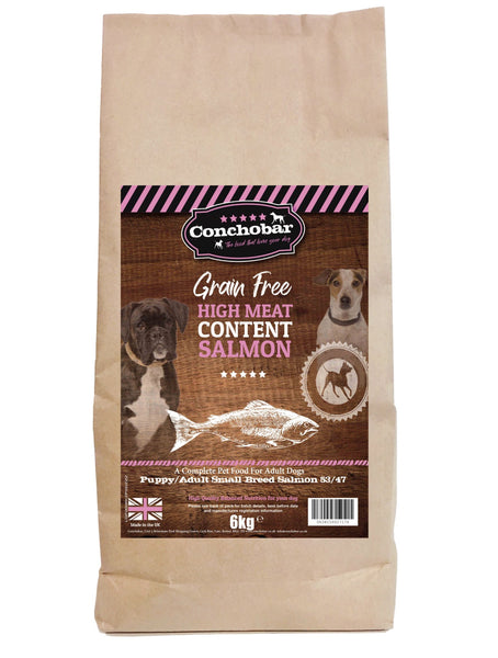 Conchobar Small Breed Puppy / Adult Salmon 53/47 6kg - Conchobar, Small Breed - Hypoallergic grain free dog food