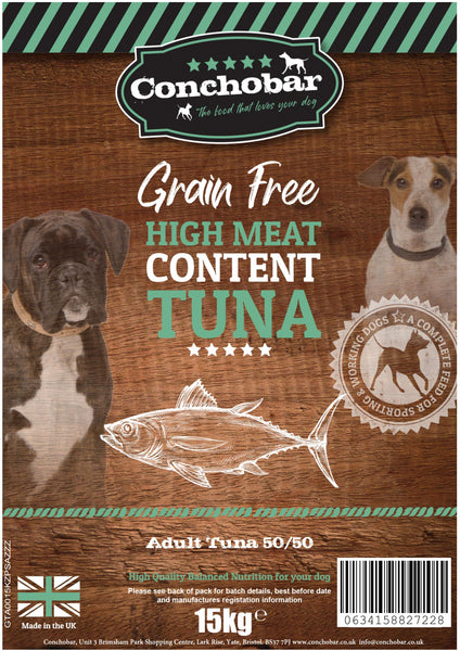 Conchobar Adult Tuna 50/50 30kg (2x15kg) - Conchobar, Adult Dog - Hypoallergic grain free dog food
