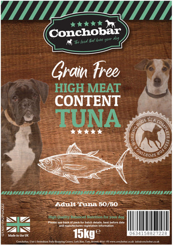 Conchobar Adult Tuna 50/50 15kg - Conchobar, Adult Dog - Hypoallergic grain free dog food